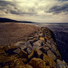 "CXL ""the breakwater"" (caese) Tags: ocean seascape beach nature landscape happy nikon waves stones galicia tempest breakwater arteixo d40x caese davincitouch poseidonsdance"