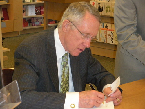 Harry Reid book signing