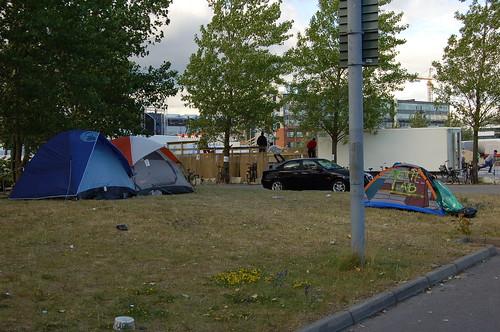 テントで来ている人も