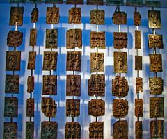 BK138 Benin Bronzes (listentoreason) Tags: uk england sculpture london art history metal museum bronze canon europe unitedkingdom britain favorites eu places material britishmuseum europeanunion basrelief metalworking greatbritian ef28135mmf3556isusm score25