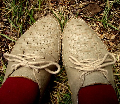 woven lace ups