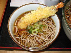 Mitsuwa Marketplace: Mini tempura soba - from Kayaba