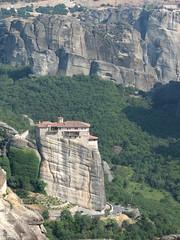 Meteora - Greece (adriana.bonte) Tags: mountain stone greece monastery meteora