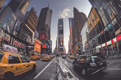 The Deuce (shaymurphy) Tags: street new york city nyc newyorkcity usa ny newyork yellow america advertising square américa nikon colorful manhattan cab fisheye timesquare times 105 amerika stad アメリカ iloveny d300 美国 travelphotography 미국 thedeuce 纽约 америка lamerica lamérique nikkor105 πόλη nikond300 τησ ニューヨークシティ αμερική 뉴욕시 explore194july72008 νέασ υόρκησ