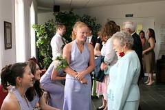 Grandma and bridesmaids