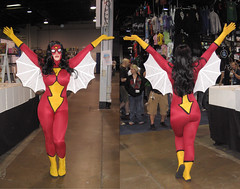 Spiderwoman_Front&Back1.1.jpg (BishopAsh) Tags: bw color digital costume cosplay babe heroine marvel bootylicious bellechere voluptuous wizardworld spiderwoman curvacious scamble frontback sundaysafari shawncampbell bishopash shawnjcampbell wizardworldchicago2008 thatwasthesecondtimeihaveeverusedthetagcosplay innermonologue postacommentifyouwould shawncampbellakascamble
