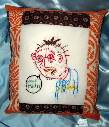 Johnny Murder's F*cked up embroidery