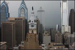 Damp Downtown (Harpo42) Tags: philadelphia philly skyline centercity cityhall tower skyscraper liberty mellon center comcast cira wet damp dark overcast gray cloudy rain