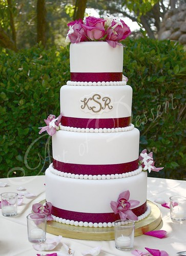 Kim and Rodney's Wedding Cake