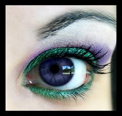green/purple (Lady Pandacat) Tags: wild color macro green eye self ojo shiny colorful lashes purple bright makeup explore mexican hispanic latina eyeshadow 2008 pigment fantabulous pandacat purpleeye madeexplore canona570is pandacatbaby tinaangel makeupwhoredom addictedtomakeup yeahiknowimpale ladypandacatvonnopants