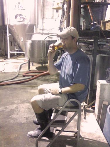 Caution: brewer working