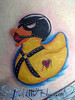 Bondage Ducky Tattoo by Miss