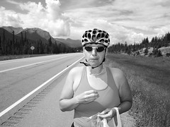 Nutrition Break on the way to Jasper (joadc) Tags: river athabasca