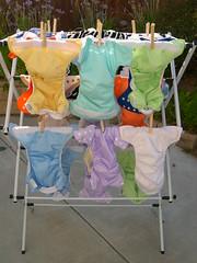 曬25條尿布(25 diapers are drying)