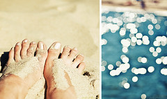 summer-feeling (Frall) Tags: light sea summer sun feet beach germany square sand nikon diptych holidays bokeh sunday balticsea diptyque kiel thebest d300 diptychon sigma50150mmf28 frall