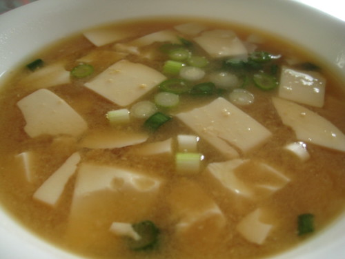 Miso Soup with Tofu and Green Onion