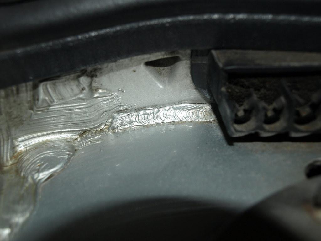 Driver's side cracks