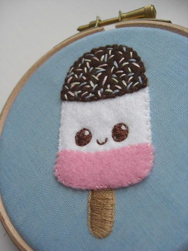 Ice Lolly embroidery