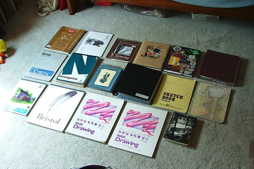 past sketchbooks