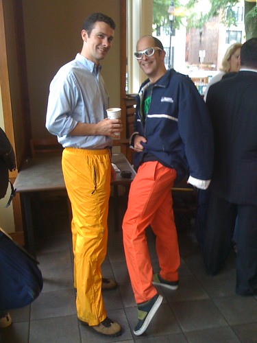 @NoOneYouKnow & @digiphile rock the hurricane pants
