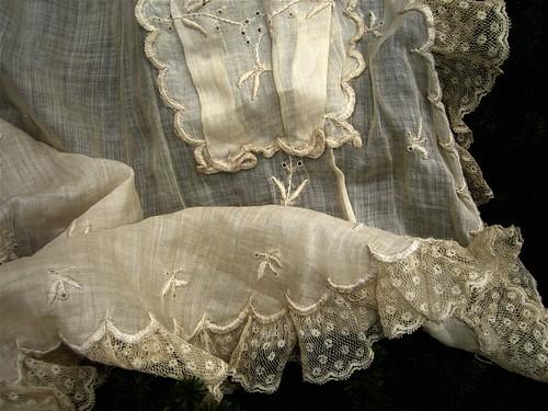 Vintage lace apron