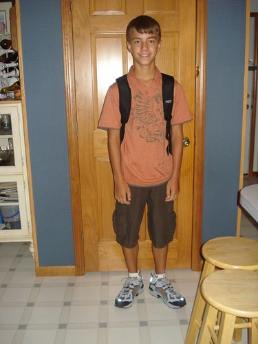 Andrew's first day of junior high school