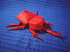 Samurai Helmet Beetle 2.1-1 by Kamiya Satoshi (naabox) Tags: origami 21 helmet beetle samurai majcher satoshi kamiya jarosaw naabox