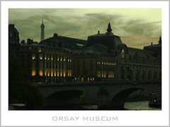 LE MUSEE DORSAY (euskadi 69) Tags: bridge sunset paris france canon toureiffel horloge museedorsay coucherdesoleil 135f2 pontroyal orsaymuseum