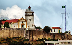 Macau Lighthouse (` Toshio ') Tags: china lighthouse portugal architecture asia chinese macau orient colony portugese toshio guiahill guiafort aplusphoto