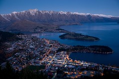 Evening Lights, Queenstown. (Mike NZ) Tags: travel newzealand snow mike sports weather nikon skiing nz southisland otago centralotago queenstown environment snowing snowskiing oceania wintersports theremarkables sportsrecreation hollman mikehollman