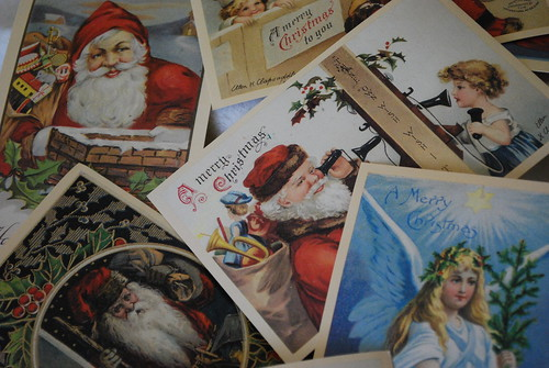 vintage christmas postcards by everything vintage