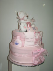pink nappy cake 008 (russell.davina) Tags: diapers nappies diapercake babyshowergift nappycake babyshowercenterpiece babyhamper