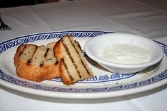 Toasted Bread with yogurt sauce