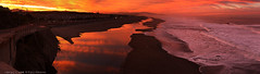 ocean & pond, san francisco sunrise (louie imaging) Tags: ocean morning sunset sky cliff house reflection beach fog clouds sunrise zoo pond haze highway bath san francisco waves pacific district great sutro fiery aplusphoto colourartaward