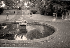 Murthly Castle, Dolphin Fountain (Martin Beek) Tags: light reflection sepia reflections garden landscape atmospheric tutorial millais refelction tonal oldwork reflectedlight monochromephotography murthlycastle theoldgarden atmosphericlandscape millaislandscapes monochromelandscape millaisscottishlandscapes photographyandpainting sepiaandmonochrome monochromeandsepia monochromelandscapes martinbeekc landscapeswithatmosphere tutorialfilesonmillaislandscapes reflectionsphotographyandpainting thecameraandtheartist theinfluenceofphotography millaisplaces