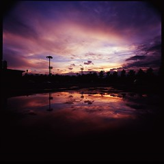 sunset in the puddle (HASSELBLAD SWC) (potopoto53age) Tags: sunset red reflection 6x6 film japan zeiss puddle purple velvia epson clowd yamanashi hassel carlzeiss biogon rvp100 wonderfulworld hasselbladswc aplusphoto kofushi diamondclassphotographer theme hasselbladsuperwidec fujichromevelvia100professional colourartaward platinumheartaward artlegacy epsongtx970 gtx970 flickrlovers carlzeissbiogon38mmf45 sky sunsetinthepuddle