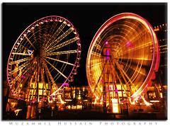 magic wheel (Muzammil (Moz)) Tags: beautiful manchester doubleexposure wagonwheel moz