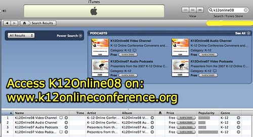 K12Online08 Video and Audio Podcast Channels in iTunes Directory