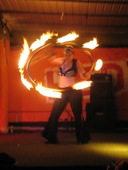 hula hooping... on FIRE
