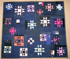 eden quilt second side (LeilaBadblood) Tags: quilt recycled sewing quilting quilts recycle reused thrifted