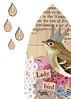 Lady Bird (ms_mod) Tags: life wallpaper bird art rain collage sepia vintage paper print design antique mixedmedia queen ephemera sparrow chickadee luck crown chance etsy swallow raindrop dollface ledger dollfacedesign