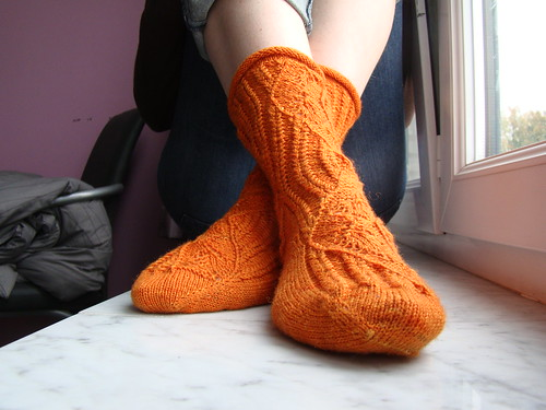 Orange mystery socks 03