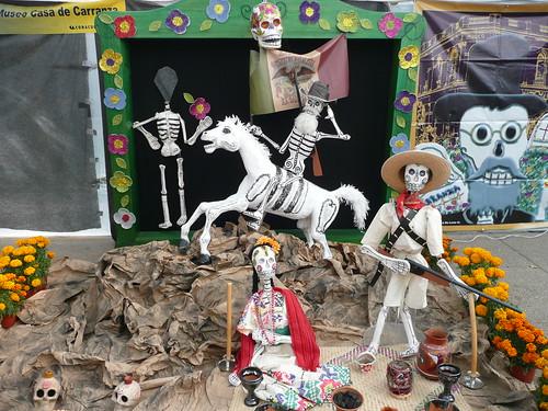 Museo de la Casa de Venustiano Carranza Dia de los Muertos display