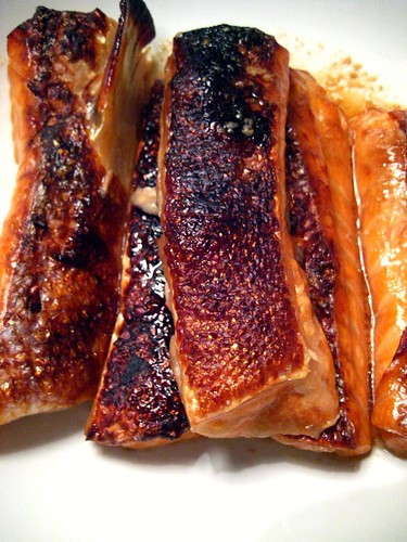 Grilled Teriyaki Salmon Belly