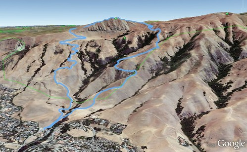 Mission Peak Google Earth map