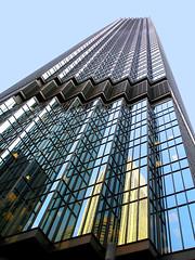 Memory of Minneapolis (tanakawho) Tags: city travel blue urban usa reflection building geometric glass vertical metal horizontal architecture america minneapolis line diagonal zigzag tanakawho
