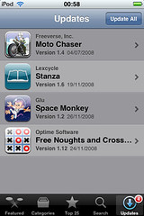 Update All in App Store iPhone firmware 2.2
