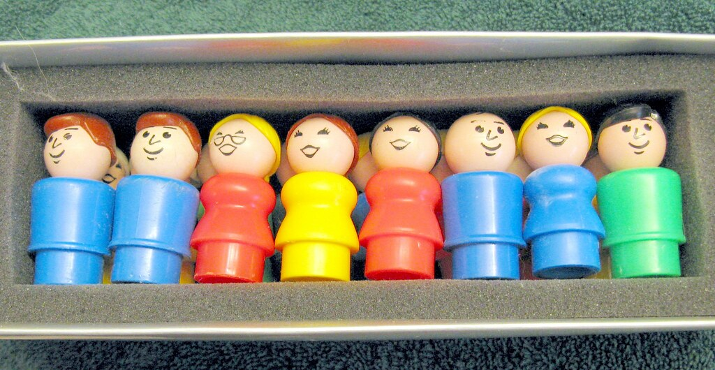 Vintage Fisher Price Little People for Anna Leigh's 4th Birthday & Tiny True Story