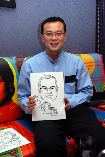 Caricature live sketching for Dow Jones 11