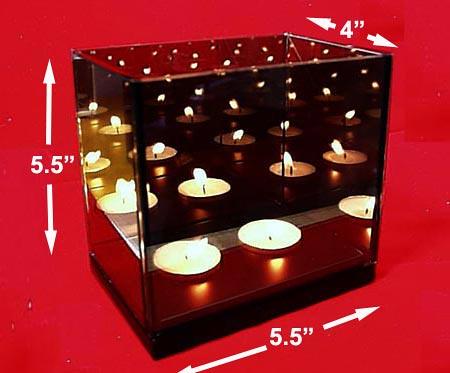 Magic Mirror Illusion Box Double Candle Infinity Light Ebay
